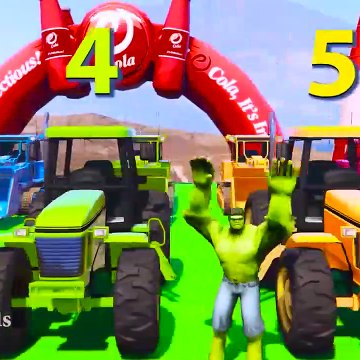 Super Heros For Kids - LEARN COLORS for Children W Spiderman and Superheroes Cycles Racing w Street Vehicles for Kids Ep 60