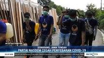 DPC NasDem Sumut dan Semarang Semprotkan Disinfektan di Sejumlah Titik