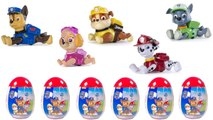 Paw Patrol Pull Back Racing Pups Open Surprise Eggs