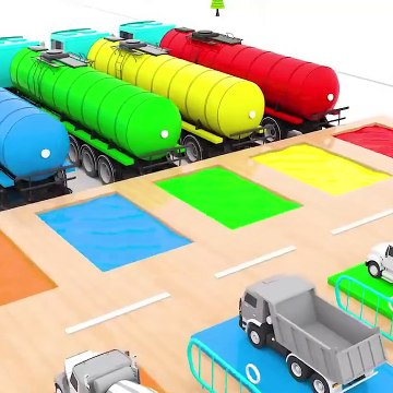 Learn Colors with Street Vehicles with Helicopters for Kids