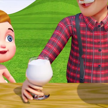 Learn Colors With Baby Make Cocktail By Milk Cow And Fruits Cartoon Video For Kids