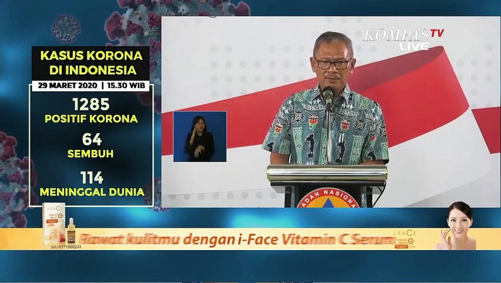 [UPDATE] 1285 Orang Positif Corona di Indonesia per Minggu (29/3/2020)