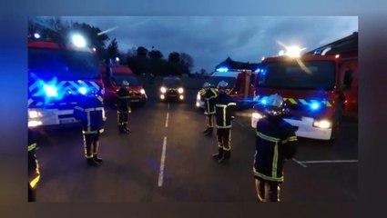 Les pompiers biardais rendent hommage aux soignants