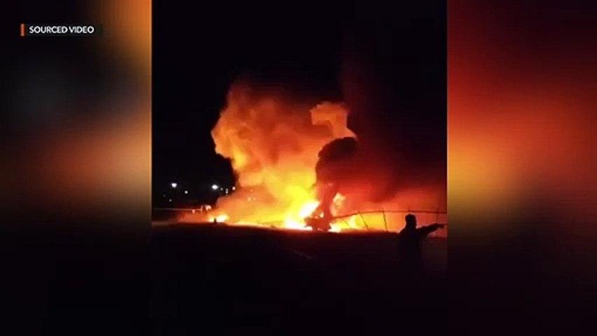 Plane explodes near NAIA runway