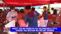 Higit 100 na pamilya sa Valenzuela City, target na bigyan ng relief goods