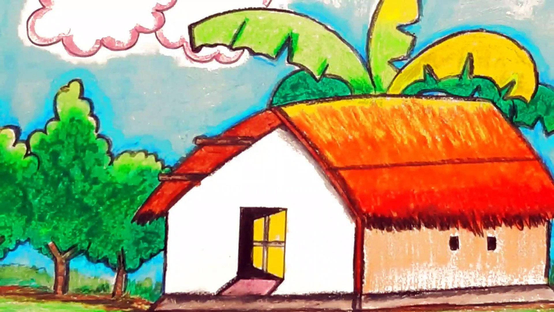 How to draw a house,draw a house easy,draw house for kids