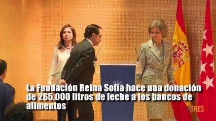 La Fundación Reina Sofía hace una donación de 265.000 litros de leche a los bancos de alimentos