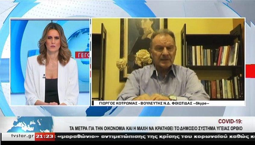 Ο βουλευτής Ν.Δ. Φθιώτιδας, Γ. ΚΟΤΡΩΝΙΑΣ, στο STAR K.E.