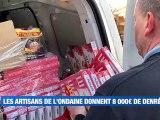 Les artisans de l'Ondaine font un don de 8 000€ de denrées pour le personnel soignant -  Reportage TL7 - TL7, Télévision loire 7
