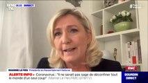 """Marine Le Pen juge """"honteux"""" l'appel à la grève de la CGT"""