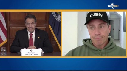 Chris Cuomo speaks at brother Governor Cuomo's briefing
