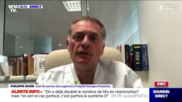 """Philippe Juvin (chef de service à l'hôpital Georges-Pompidou): """"La sortie du confinement doit être accompagnée par un testing de la population"""""""