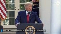 US President Donald  Trump and Coronavirus Task Force update on pandemic