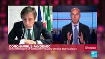 "Coronavirus pandemic: ""The growth of the virus is slowing down"", Vice president of Lombardy tells FRANCE24"
