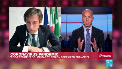"""Coronavirus pandemic: """"The growth of the virus is slowing down"""", Vice president of Lombardy tells FRANCE24"""