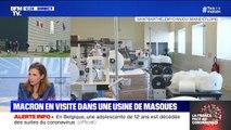 Coronavirus: Emmanuel Macron en visite dans une usine de masques en Maine-et-Loire
