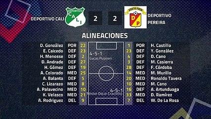 Resumen partido entre Deportivo Cali y Deportivo Pereira Jornada 8 Apertura Colombia