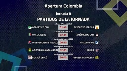 Previa de la Jornada 8 Apertura Colombia