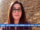 Résidence Orpéa - les résidents skype avec leur famille -  Reportage TL7 - TL7, Télévision loire 7