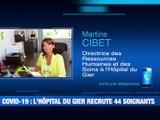 Covid-19 : L'hôpital du Gier a un besoin urgent d'infirmier(e)s et médecins -  Reportage TL7 - TL7, Télévision loire 7