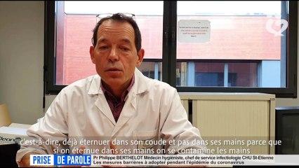 Prise parole du 31 mars - Professeur Philippe Berthelot, CHU de Saint-Etienne
