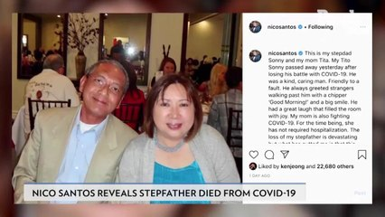 Superstore's Nico Santos Reveals Stepdad Died from Coronavirus, Mom Is Currently 'Fighting' It