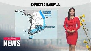 [Weather] Rain on east coast, warm highs