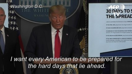 Coronavirus: Trump warns US headed for 'very, very painful two weeks'