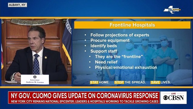 Watch live- N.Y. Gov. Andrew Cuomo gives coronavirus update