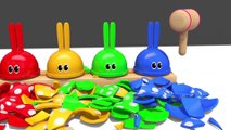 Learn Colors with Microwave Toy and Bunny Mold Squishy Balls Nursery Rhymes for Kids Children