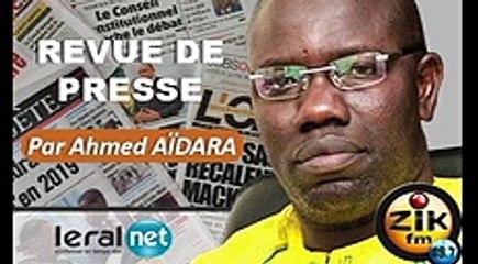 ZikFM - Revue de presse Ahmed Aidara du Mercredi 01 Avril 2020
