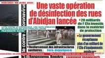 Le Titrologue du 1er avril 2020 : Lutte contre le coronavirus, une vaste opération de désinfection des rues d'Abidjan lancée