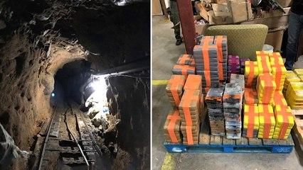 27 miljoen euro aan drugs in beslag genomen in tunnel onder Trump Wall