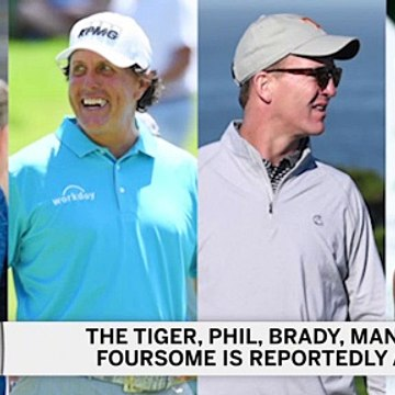 Tom Brady, Peyton Manning, Tiger Woods, Phil Mickelson Foursome Is On