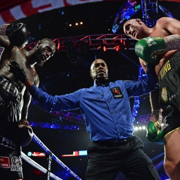 George Foreman Shares Words Of Wisdom With Deontay Wilder