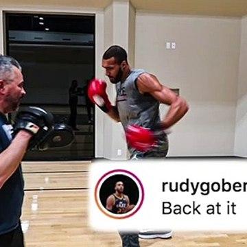 "Rudy Gobert is ""back at it"" after beating coronavirus"