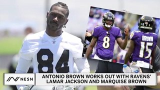 Antonio Brown Making Push To Join Lamar Jackson, Ravens?