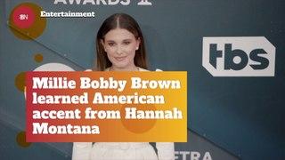 Millie Bobby Brown And Hannah Montana