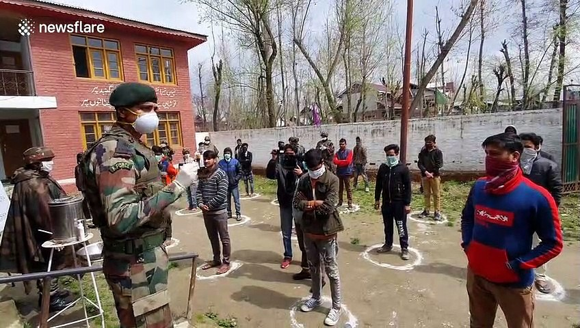 Indian army set up COVID-19 training camp to educate locals about the pandemic