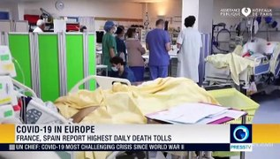 France, Spain report highest daily death tolls