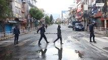 Police use 'social distancing pliers' to detain coronavirus lockdown violatorsin Nepal