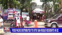 Food packs distributed to Sitio San Roque residents in QC