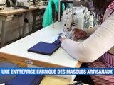 Une entreprise fabrique des masques artisanaux -  Reportage TL7 - TL7, Télévision loire 7