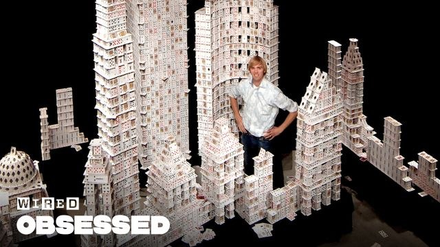 How This Guy Stacks Playing Cards Impossibly High