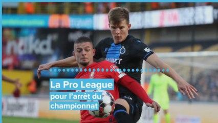 Podcast - La Pro League pour l'arrêt du championnat: l'analyse de notre chef foot, Frédéric Larsimont