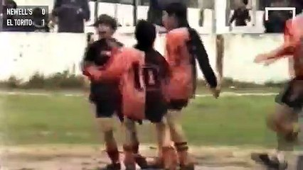 Rare footage of a 12-year-old Lionel Messi in action