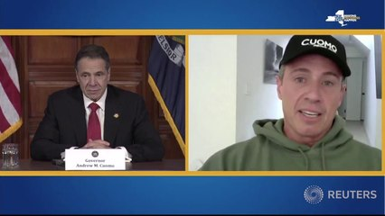 Chris Cuomo lends some levity during brother New York Governor Andrew Cuomo's daily briefing