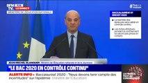 """Bac 2020 en contrôle continu: Jean-Michel Blanquer annonce """"un jury pour examiner les livrets scolaires"""""""