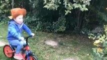 Mind the bushes little boy!