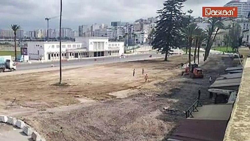 Tanger : Malgré la découverte des ruines d'un monument, le chantier de la Place d'Espagne continue